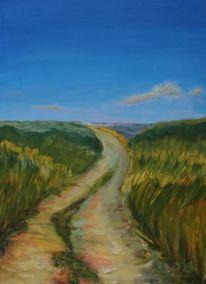 Weg, Landschaft, Malerei