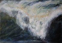 Malerei, Meer, Brandung, Welle