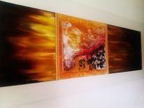 Feuer, Rot, Elemente, Malerei