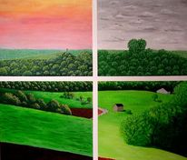 Horizont, Schatten, Feld, Dunkel