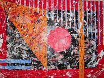 Rot schwarz, Bewegung, Wild, Abstrakt