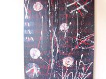Wild, Abstrakt, Weiß, Rot schwarz