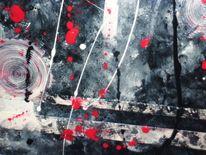 Wild, Rot schwarz, Hölle, Abstrakt