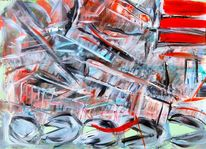Abstrakt, Blut, Rot, Klavier