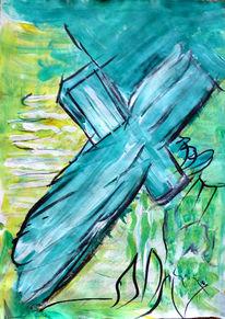 Kreuz, Mischtechnik, Going