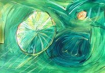 Zitrone, Grün, Gelb, Abstrakt