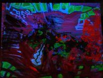 Blau, Pink, Psychedelisch, Spachtel