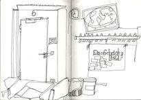 Skizze, Raum, Zeichnungen, Blickwinkel