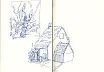 Scribble, Tinte, Raum, Skizze