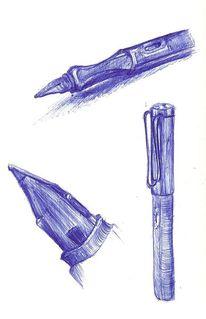 Skizze, Füller, Kugelschreiber, Studie