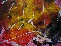 Acrylmalerei, Orange, Licht, P1130869