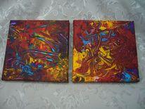 Acrylmalerei, Feuer, P1130714, Licht