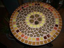Mosaik, Braun, Beige, Gelb
