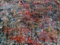 Chaos, Vintage, Acrylmalerei, Pop art