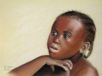Pastellmalerei, Augen, Portrait, Junge