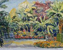 Pyrmont, Baum, Palmen, Blumen