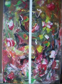 Bunt, Dunkel, Abstrakt, Acrylmalerei