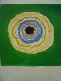 Kreis, Grün, Ölmalerei, Blau