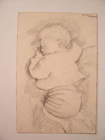 Bleistiftzeichnung, Zeichnung, Schlaf, Traum
