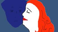 Suche, Gemälde, Mann, Frau