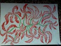 Pflanzen, Grafik, Wein, Malerei