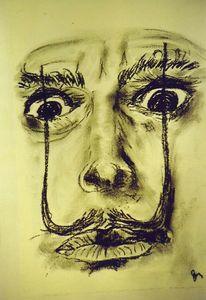 Salvador dalí, Bleistiftzeichnung, Zeichnungen, Dalí