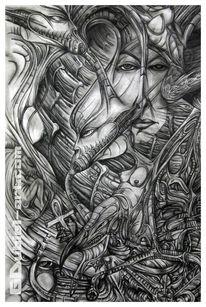 Kunsthandwerk, Paradies, Einsamkeit, Skizze