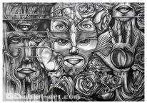 Einsamkeit, Skizze, Paradies, Kunsthandwerk
