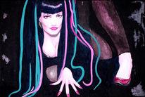 Acrylmalerei, Malerei, Geisha
