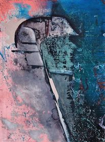 Türkis, Acrylmalerei, Blau, Abstrakt