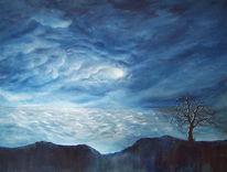 Wolken, Baum, Ende, Blau