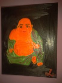 Realismus, Ölmalerei, Budda, Orange