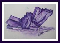 Knoten, Pastellmalerei, Violett, Skizze
