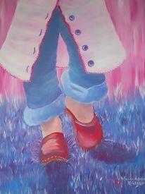 Farben, Laufen, Acrylmalerei, Fuß