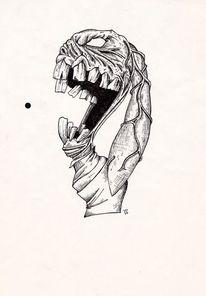 Alptraum, Feder, Böse, Hässlichkeit