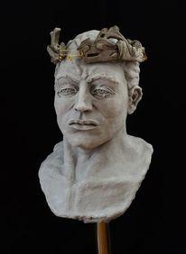 Liebe, Figurativ, Skulptur, Kopf