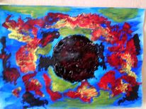 Schwarze loch, Malerei, Abstrakt