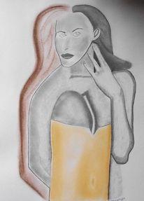 Dame, Expressionismus, Eleganz, Haut