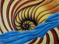 Spirale, Malerei, Pastellmalerei, Ammonit