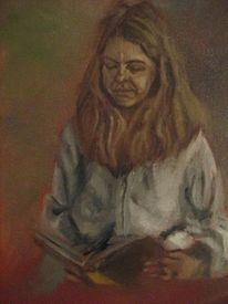 Lesen buch frau, Malerei, Menschen