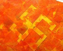 Swastika, Malerei, Feuer, Eis