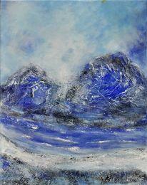 Struktur, Blau, Felsen, Stimmung