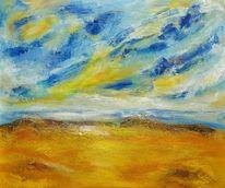 Expressionismus, Himmel, Licht, Meer