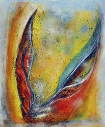 Tänzerisch, Expressionismus, Metall, Rot
