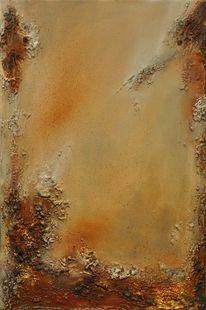Wüste, Raum, Goldschimmer, Stein