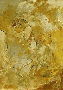 Ocker, Abstrakt, Grau, Formen