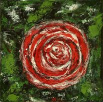 Organisch, Rot, Blüte, Grün