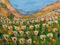 Sommer, Blüte, Berge, Endlos