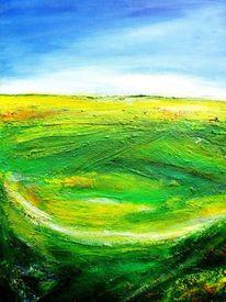Mohn, Abstrakt, Landschaft, Experimentell