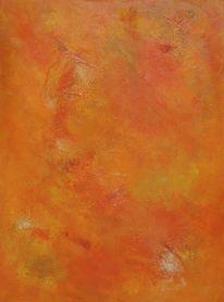 Orange, Sonne, Farbfeldmalerei, Wärme